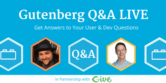Cover Image: Gutenber Live Q & A w/ Joe Casabona and Zac Gordon