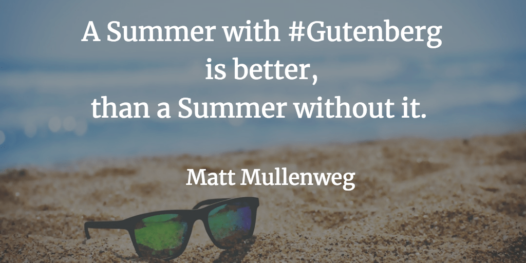 Mullenweg quote during Q & A Gutenberg Roadmap