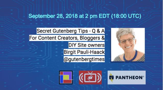 Secret Tips for Guteberg 9-28-Birgit Pauli-Haack