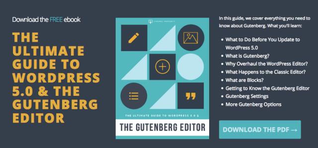 Graphic: Screenshot of WordPress 5.0 + Gutenberg Editor PDF eBook.