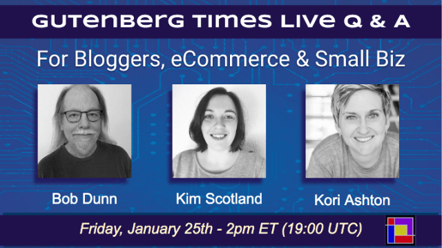 Live Q & A with Kori Ashton, Bob Dunn and Kim Scotland!