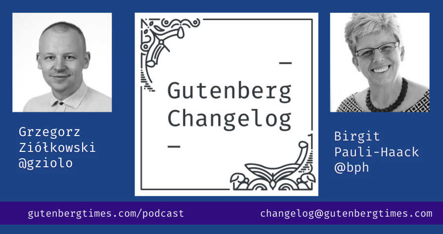 Gutenberg Changelog with Greg Ziolkowski and Birgit Pauli-Haack