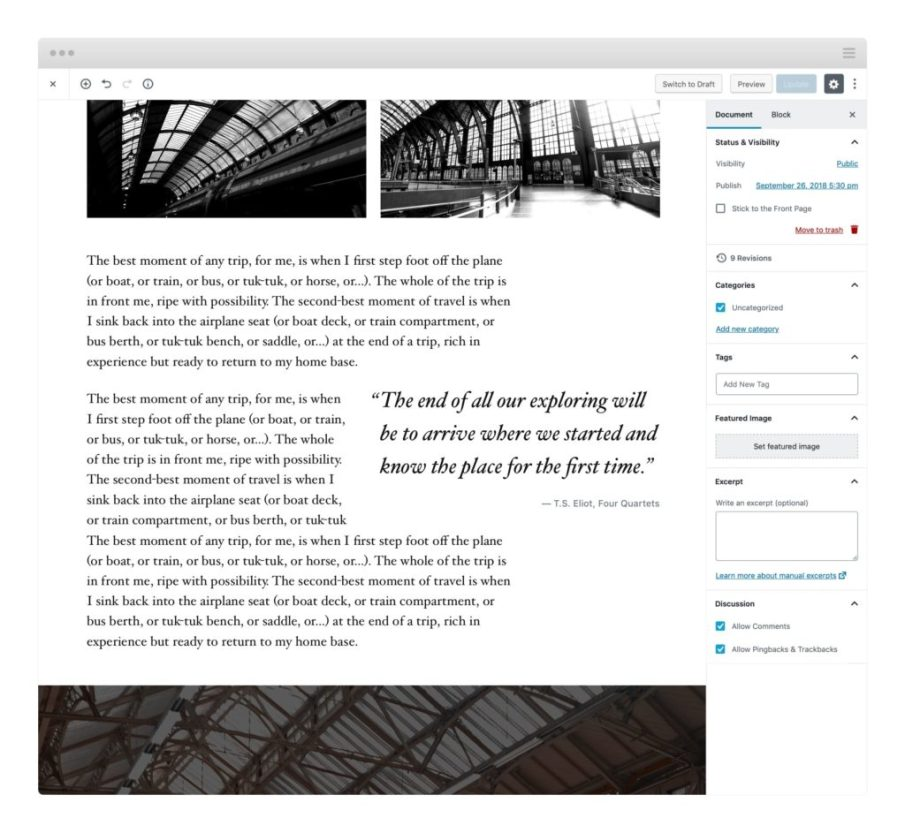 Theme Twenty Nineteen; WordPress 5.0; WordPress 5 new download