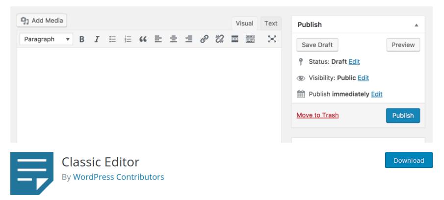 wordpress switch to classic editor wordpress classic editor plugin wordpress 5 classic editor wordpress 5 0 classic editor wordpress classic editor not working classic editor addon wp classic editor wordpress disable classic editor