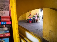 Strassenszene in Cartagena, Kolumbien