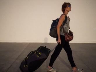 So sieht Moni reisend aus.