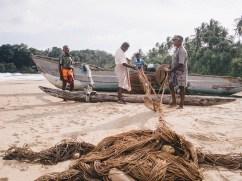 Die Fischer bereiten sich vor