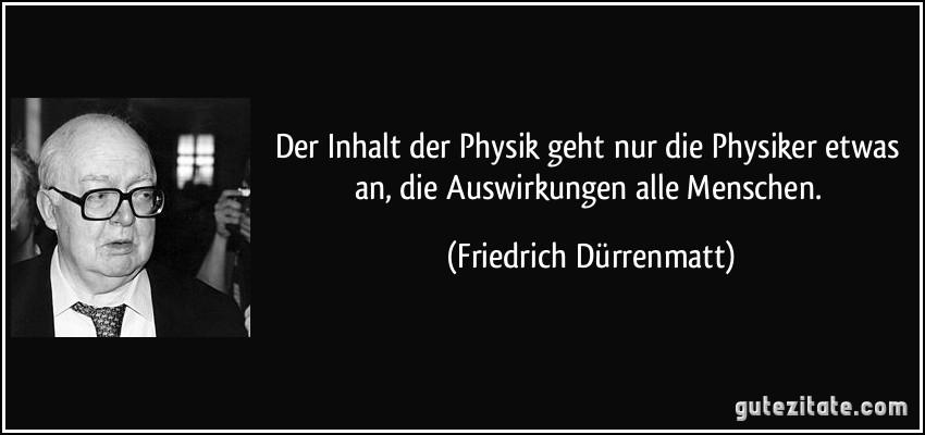 Der Inhalt Der Physik Geht Nur Physiker Etwas An