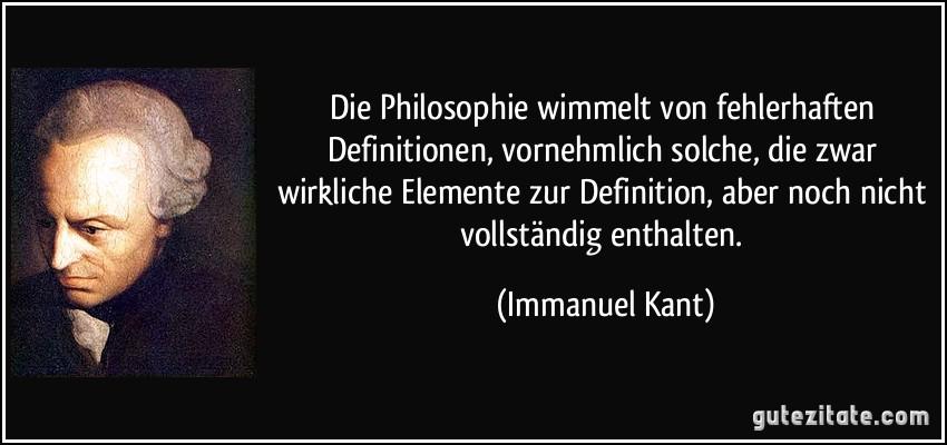 Philosophie Wimmelt Von Fehlerhaften Definitionen