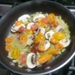 Veggies for an omelet