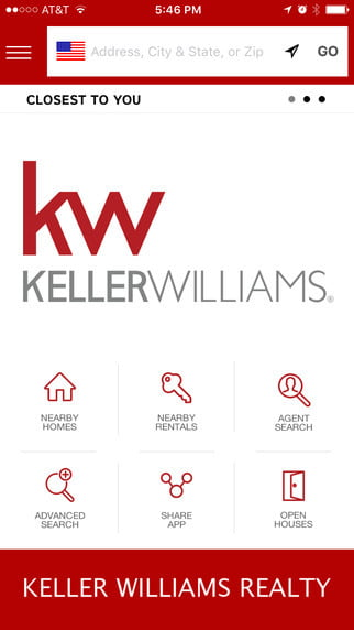 Guthrie Group Homes - Keller Williams Mobile Real Estate App Screen Shot