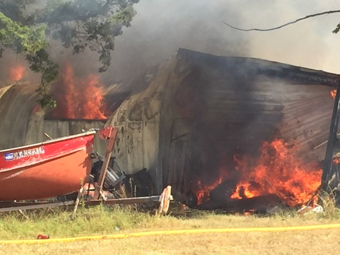Electrical fire causes garage to go up in flames