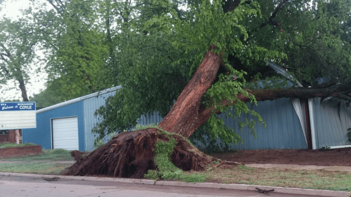 Storms leave damage in Coyle; heavy rains flood roads