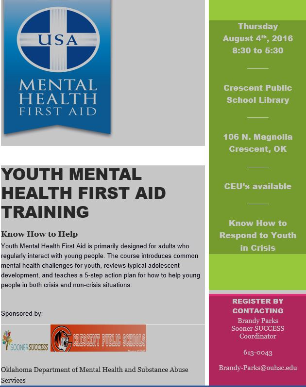 Adult training upcoming to help young people