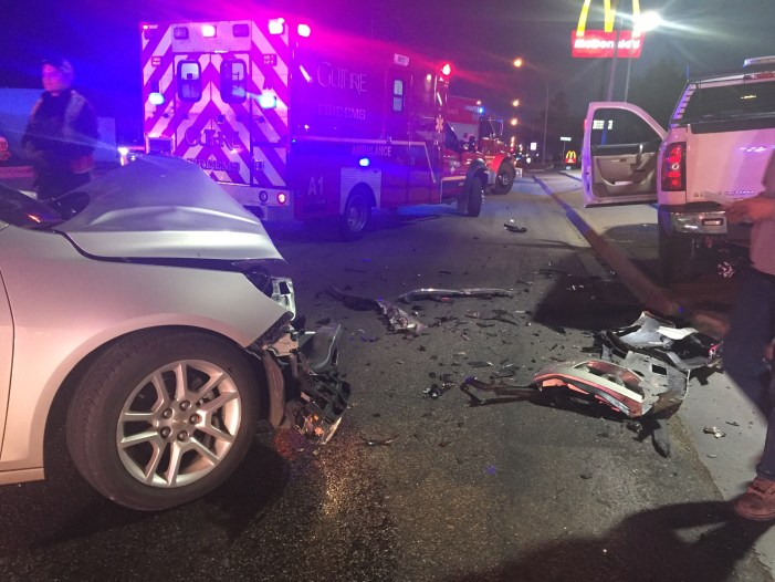 Wreck in front of McDonald's sends one to the hospital
