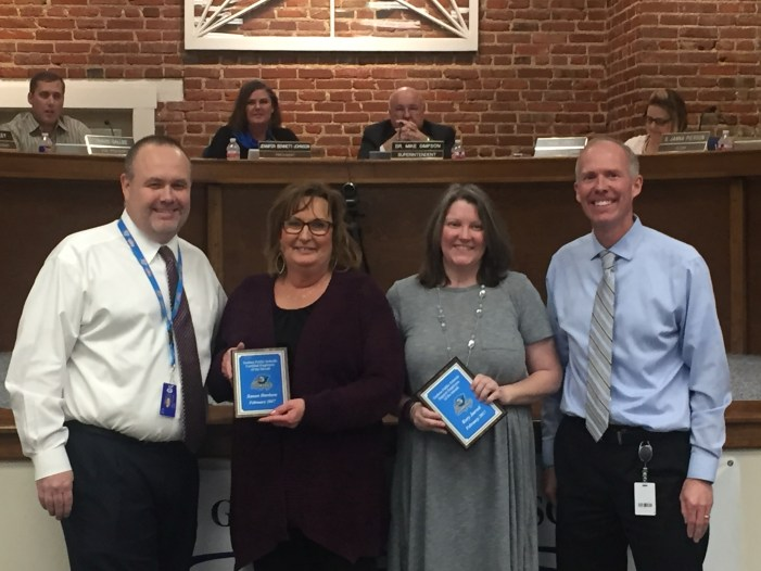 GPS honors employees of the month at BOE meeting