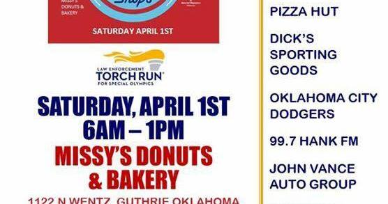 Cops On Doughnut Shops to benefit Special Olympics