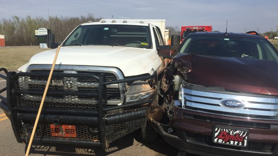 Vehicles collide on Highway 33; one person transported to hospital