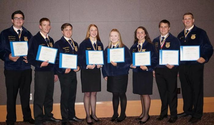 Local students receive State FFA Degree