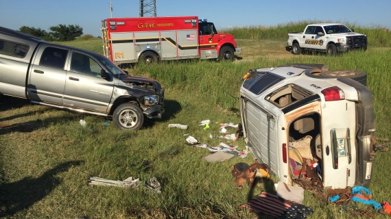 Two vehicle accident on Highway 33 sends three to the hospital