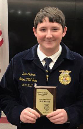 Dalton Cockrum selected as member of National FFA Band, to perform at 2017 National FFA Convention & Expo