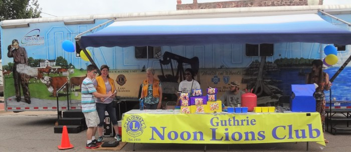 Lions Mobile Health Screening Unit participating in Summer Streets