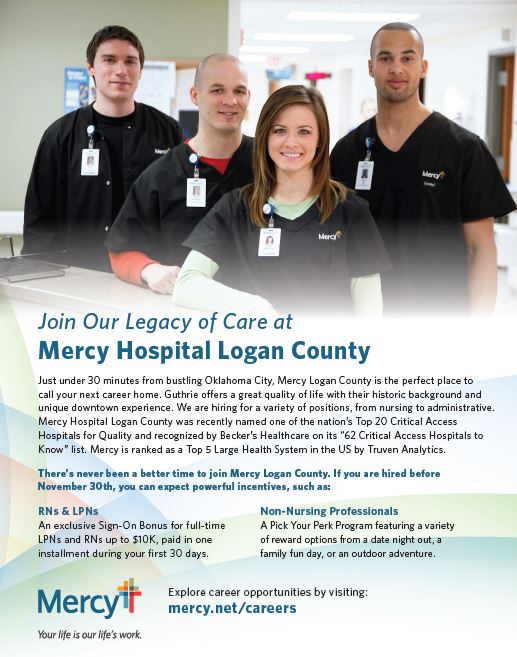 Mercy Hospital Logan County hiring for positions