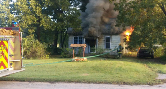 Home destroyed with early morning fire on west side