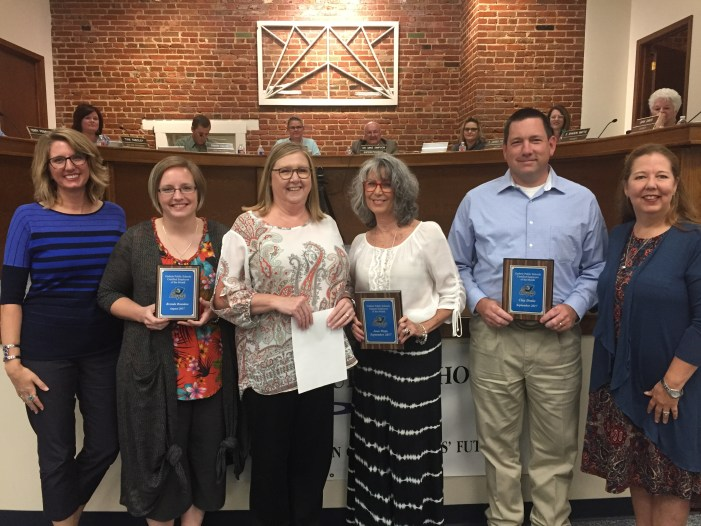 GPS recognizes three employees of the month to BOE