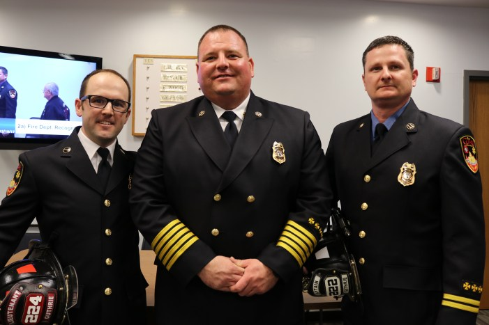 Video: Guthrie Fire Department promotes Lausen, Nivens as officers