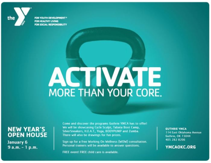 YMCA hosting New Year's Open House on Jan. 6