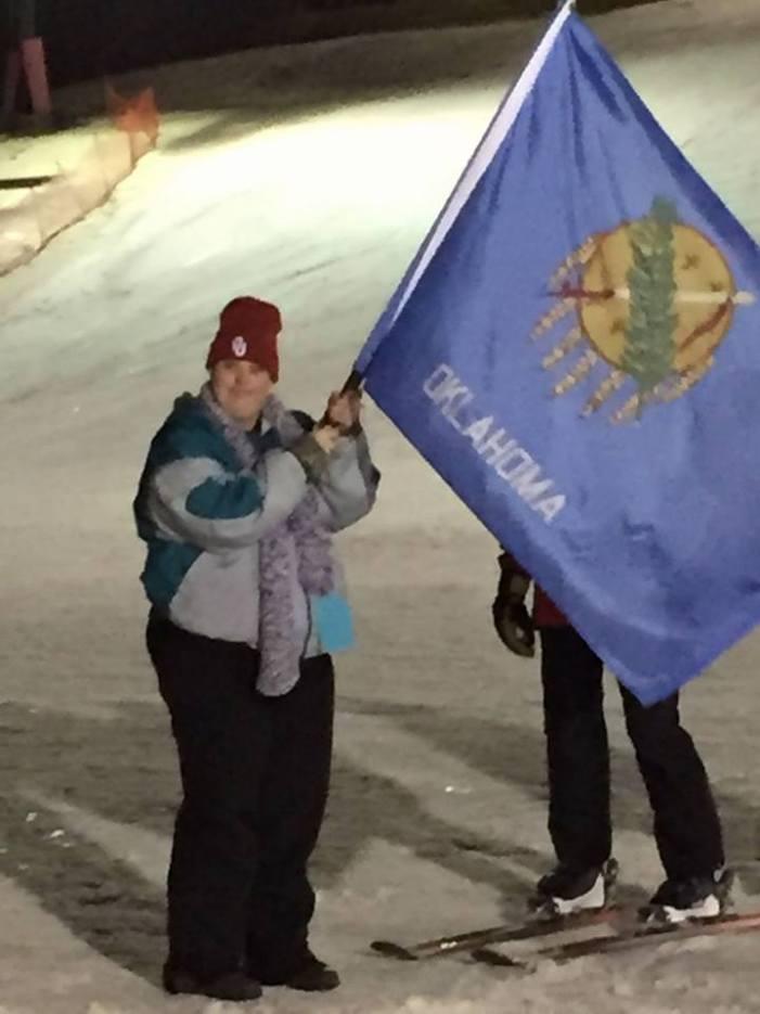Erin Henke representing Oklahoma in Special Olympics