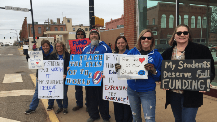 Video: Teachers rally in downtown for education funding