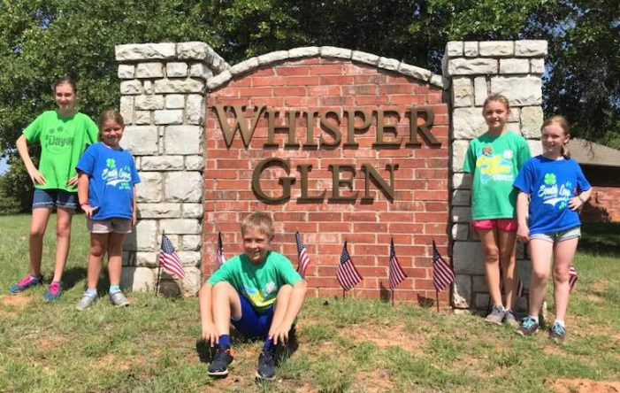 South Logan County 4-H Club celebrates Independence Day by placing flags