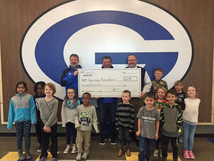Video: Eskridge Chevrolet makes second donation to Charter Oak Elementary's playground project