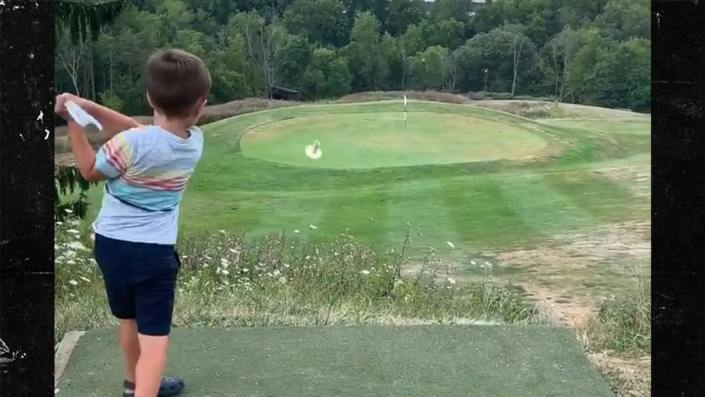 4-year-old hits a hole-in-one…