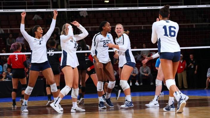 Penn State women's volleyball mega rallies…
