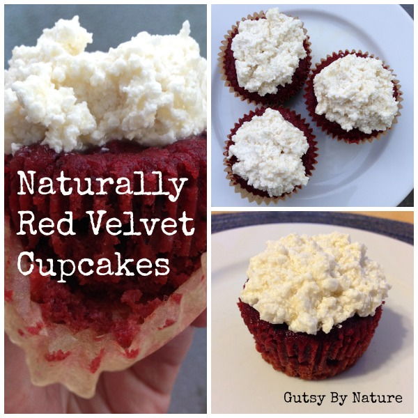 naturally red velvet cupcake