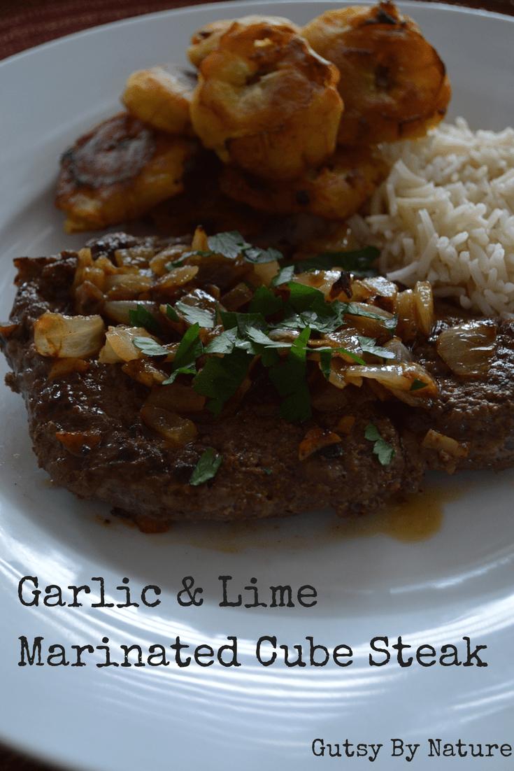 Garlic & Lime Marinated Cube Steak