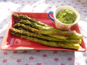 Roasted Asparagus with Bitter Lemon Pesto by petra8paleo