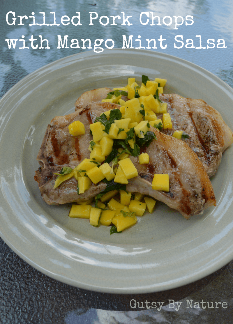 pork chops with mango mint salsa 2