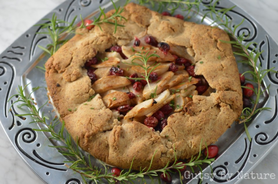 Cranberry & Rosemary Pear Galette (AIP)