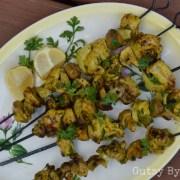 Mushroom and chicken kebabs aip