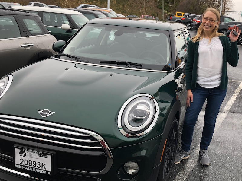 Posing with my new 2019 Mini Cooper 4 Door