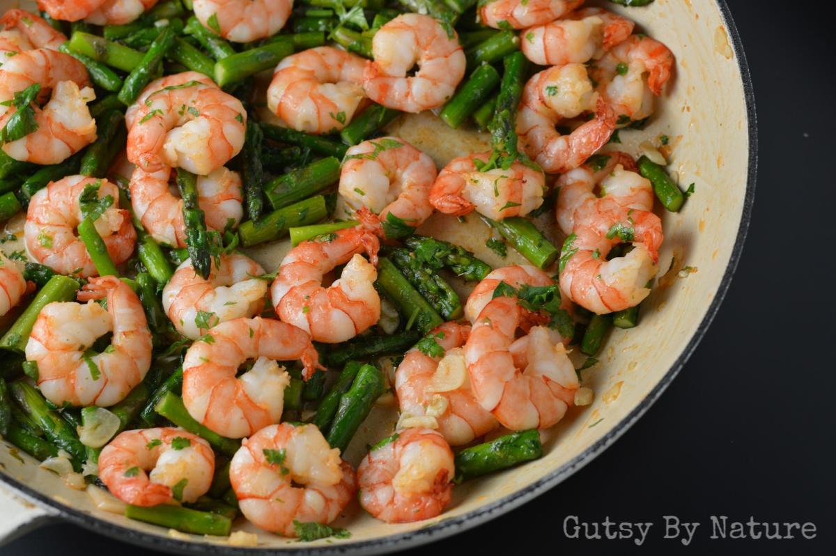 Easy Shrimp and Asparagus Stir Fry ~ Gutsy By Nature