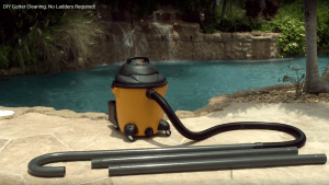 Gutter Clutter Buster works with your wet/dry vacuum