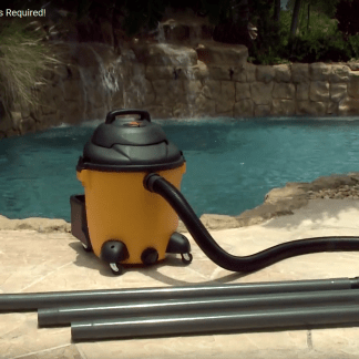 gutter cleaning using the Gutter Clutter Buster KIT Combo