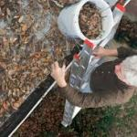 Cleaning gutters by hand is dangerous, messy and time consuming