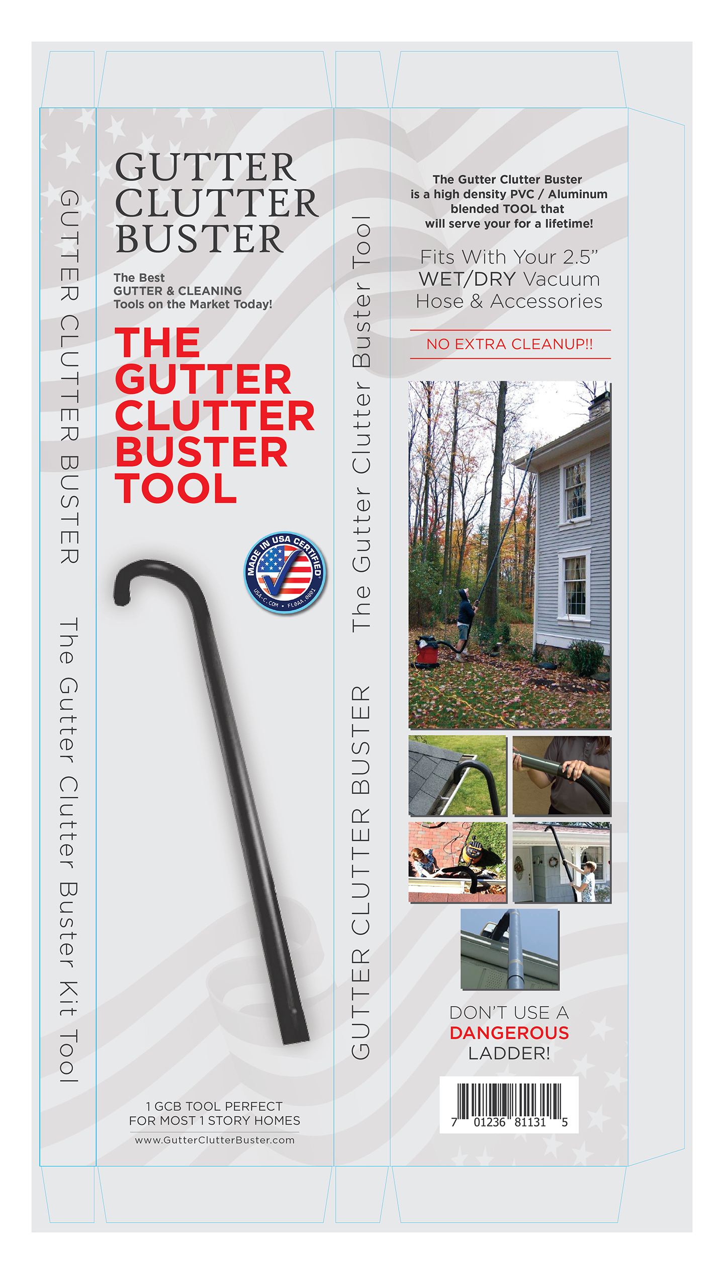 gutter cleaning tool for single story homes