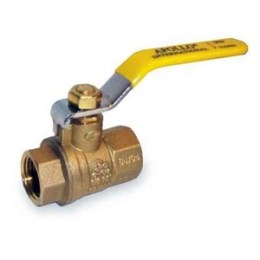 This ball valve is open when the handle aligns with the pipe. To close it, turn the handle clockwise 1/4 turn so that it is at a right angle to the pipe.